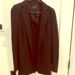 Club Monaco black oversized sweater blazer
